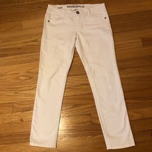 White Long Jeans